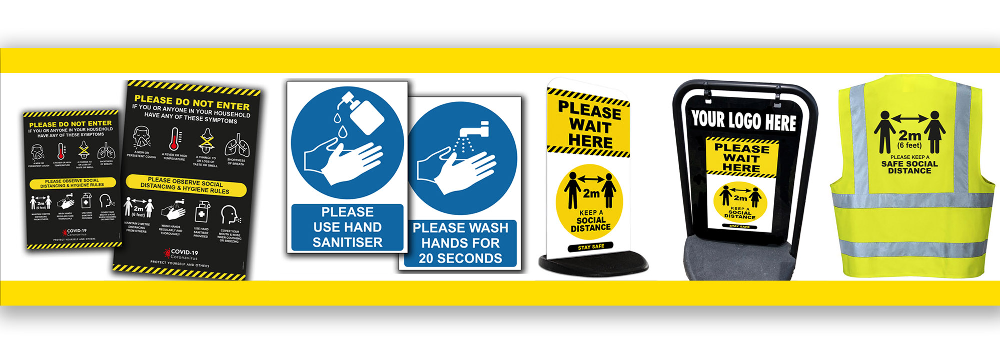 COVID-19 SAFETY SIGNAGE - in stock now